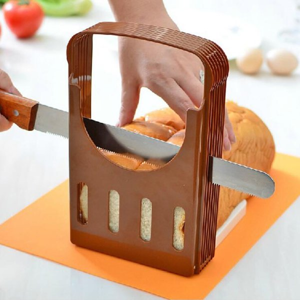Brot-Schneider-Laib-Toast-Schneidemaschine Schneiden faltbare praktische Schneidanleitung Brot-Schneidemaschine-Küche-Backen-Werkzeuge OOA6376