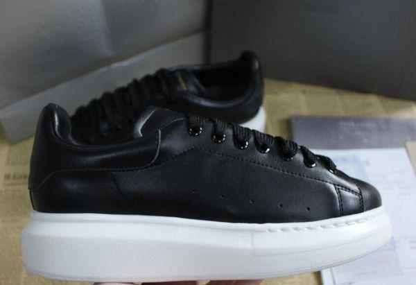 Alexander McQueen air max supreme off white vapormax nike nmd vans  Güzel Platformu Rahat Sneakers Lüks Tasarımcılar Ayakkabı Deri Katı Renkler Elbise Ayakkabı 36-45 A01