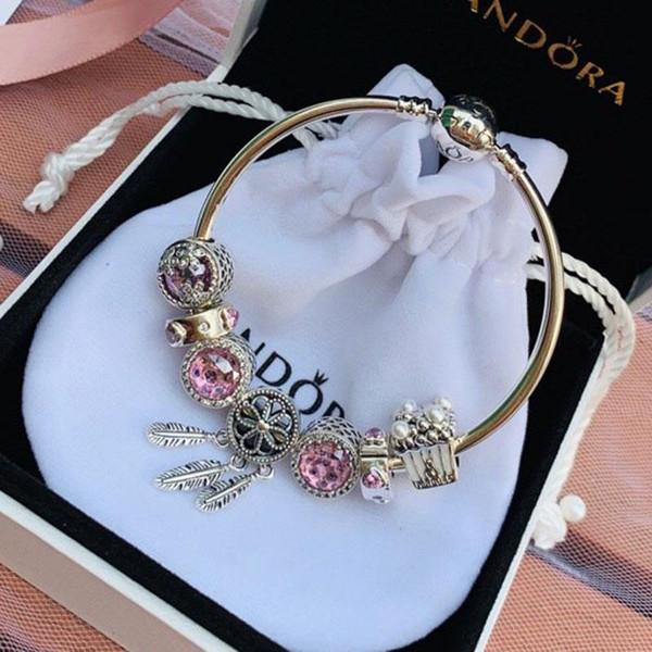 Рождественская распродажа Pandora magic dream подвеска Шарм браслет браслеты стерлингового серебра 925 ювелирные изделия полный оригинальный упаковка подарки