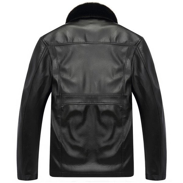 Men leather Jacket Winter Thick Leather Jackets Coat Faux Fur mens Long Motorcycle PU Jacket Warm Outerwear Parka High Quality