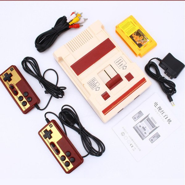 8 Bit Tv Game Player Classic Red White Video Game Consoles Video Game Console Yellow Card Plug-in Card Games Rs-37 T6190615