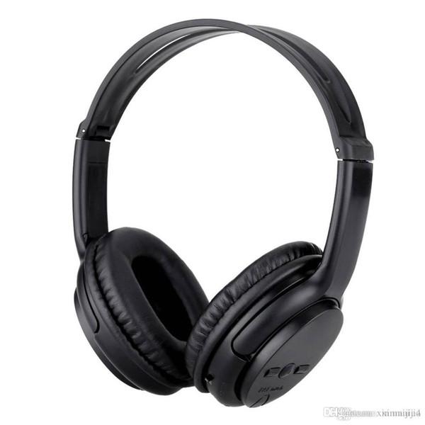 Siyah 5800 Bluetooth Stereo Kablosuz Kulaklık kulaklık kulaklık PC Bilgisayar Dizüstü Akıllı Telefon için TF Kart Yuvası