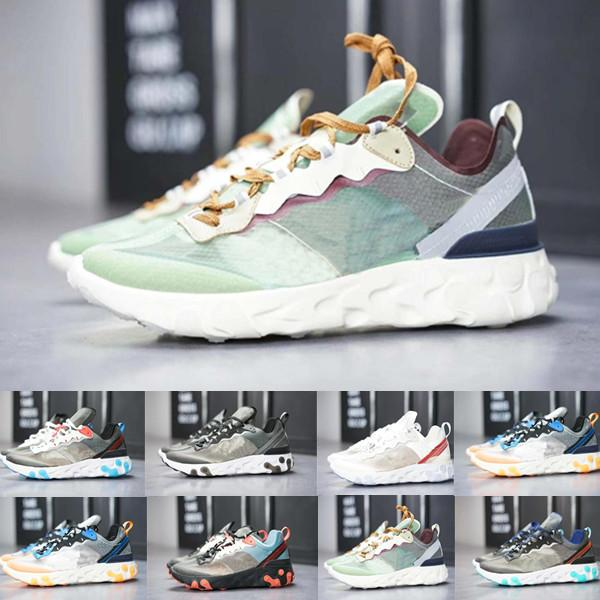 2019 React Element 87 55 кроссовки для мужчин, женщин белый черный Royal Оттенок Desert Sand дизайнер дышащий спортивный кроссовок размер 36-45 BE568
