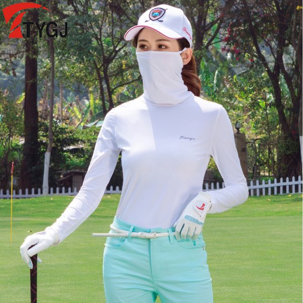 New Arrival Fitness Women Golf Shirts Lady Autumn Long Sleeve Women Golf Shirts Breathable Sport Outdoor Sportswear