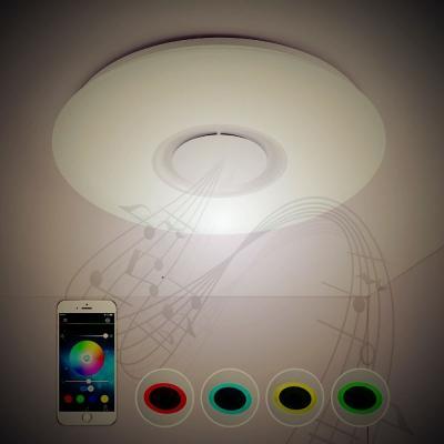 Müzik Işık Dönüştürücü Bluetooth Tavan Işık, ücretsiz kargo ile güzel müzik Singing bir led lamba