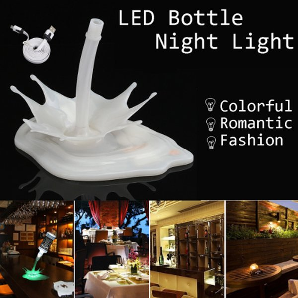 DHL Novelty Pour the lamp LED Night Light Wine Pour Wine 3D Rechargeable USB Touch Switch Fantasy Wine Bottle Decoration Bar Party Lamp