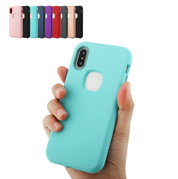 Hybrid Case 3in1 PC Silicone Heavy Duty Armor Shockproof Cover Case For iPhone XR XS MAX X 7 8 plus DHL free