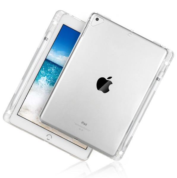 Cubierta transparente transparente transparente TPU suave protectora para Pro11 Air simple iPad 234 tableta con ranura para bolígrafo protectora