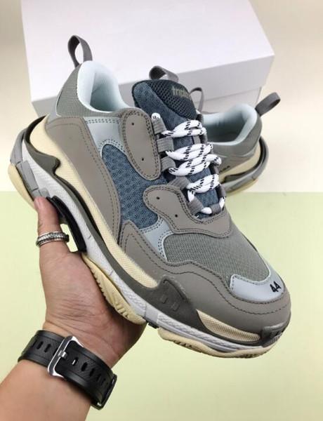 Супер высокая стоимость случайные обуви тройная с дизайнерской низким папа комбинация кроссовок подошвой сапоги обувь высокое качество СК1