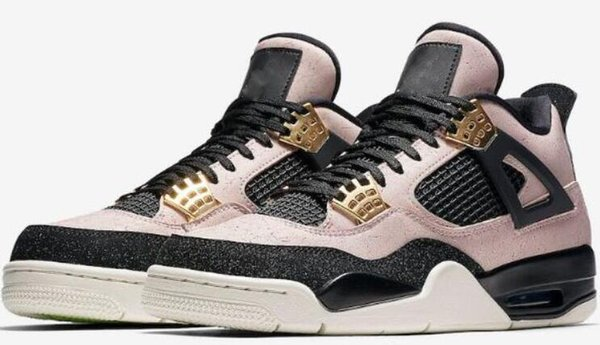 Alta qualità 4s Air Sale Retro 2019 Sale J4 Mens Basketball Designer 4 Scarpe per uomo Casual Sports Aggiornato Pink Golden arriva 02