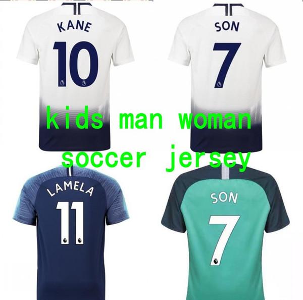 free shipping 0ecaf 3f5e9 2019 18 19 Tottenham Jersey Kids Kane Sun Xingtu No. 10 Home And Away Man  Women Football Team Uniform Spurs Shirt 2019 From Kidsky556, $12.07   ...