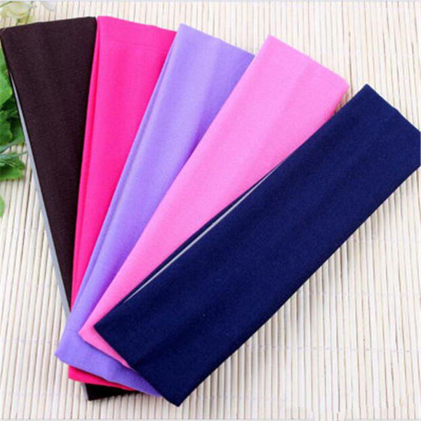 top popular New Stretch Headband Sports Yoga hair band Sweat Head Wrap Unisex good Stretch Bandanas F0025 2021