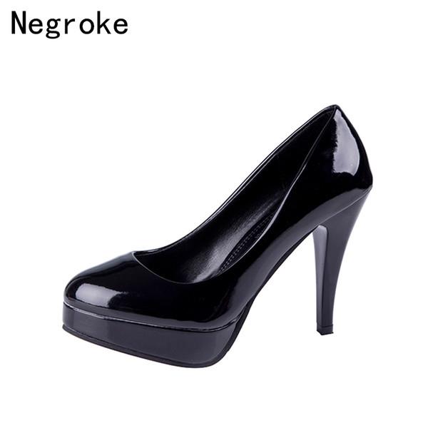 Damen Schuhe Pu Herbst Komfort High Heels Blockabsatz Runde