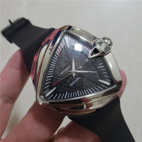 top popular Top Quality Mens Luxury Watch Brand Stainless Steel Rubber Strap Automatic Movement Male Sport Wristwatch Gift Clock 2020