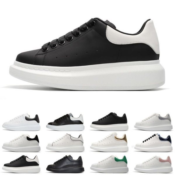 Cheap Sale Black white red Fashion Luxury Designer Women Shoes Gold Low Cut Leather Flat designers mens womens Casual sneakers