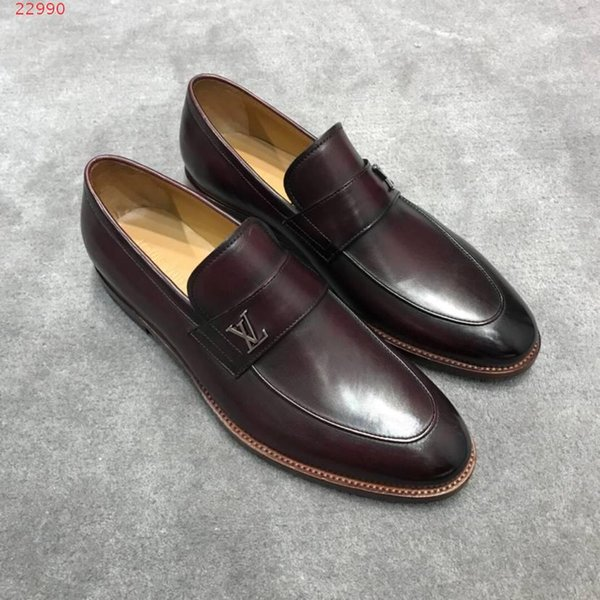 spring new men shoes set leather casual shoes breathable insole, Business the upper is leather fabric, rubber outsole, comfortable and non-s