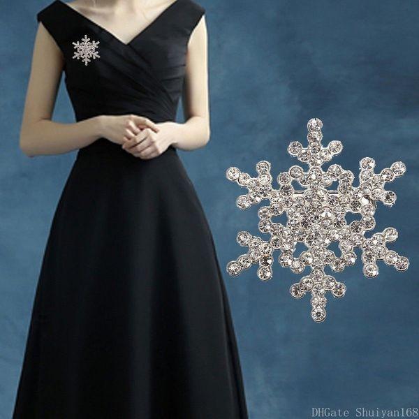 Большая снежинка брошь сверкающий хрусталь стразы цветок брошь булавки для женщин леди ювелирные изделия ну вечеринку броши рождественский подарок DHL