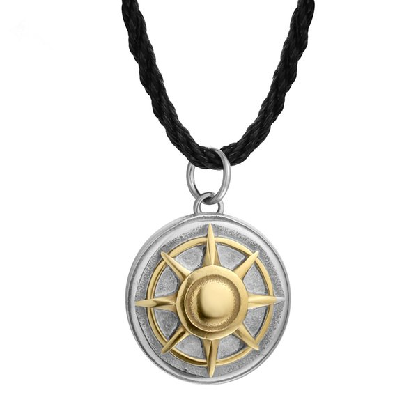 2cm Tiny Small Shining Sun Pendant Round Europe and America Men's Domineering Virgin Necklace for women