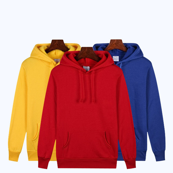 Fashion Couple Womens Men Casual Lightweight Long Sleeve Pullover Hoodie Sweater with Pockets Support for personalized ordering