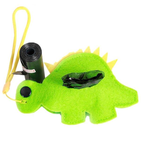 Portable Holder Pet Poop degradabile sacchetto animale sveglio di figura Garbage Dispenser Cane Prodotti per la pulizia dei rifiuti Bag Dispenser Outdoor