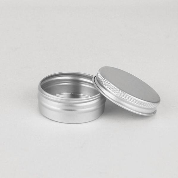 1000pcs/lot 15g 15ml Empty cream aluminum jar metal tin cosmetic packaging container empty cosmetic metal jar