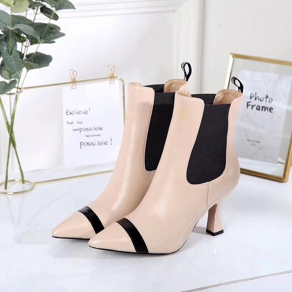 Nueva Primavera Otoño zapatos de novia de la boda de Patentes Negro de piel de lujo de novia Cartas punta estrecha bombas altos talones de las señoras de los cargadores aey19090507