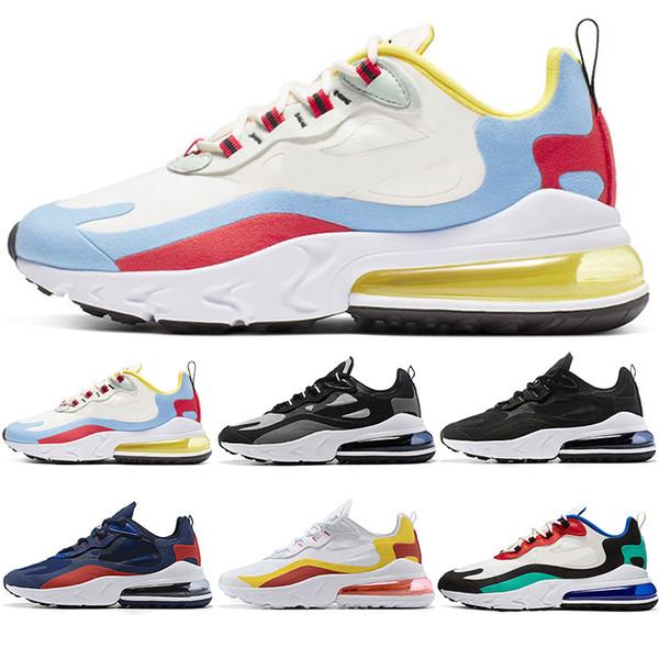 2019 React Men Women Running Shoes Bauhaus Optical Oreo Triple Black White Designer Mens Trainers Breathable Sports Sneaker Size 5.5-11