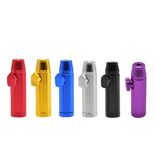 New Multi Style Colorful Metal Snuff Bullet Shape Smoking Pipe Nose Aluminium Alloy Innovative Design Portable High Quality AA1932