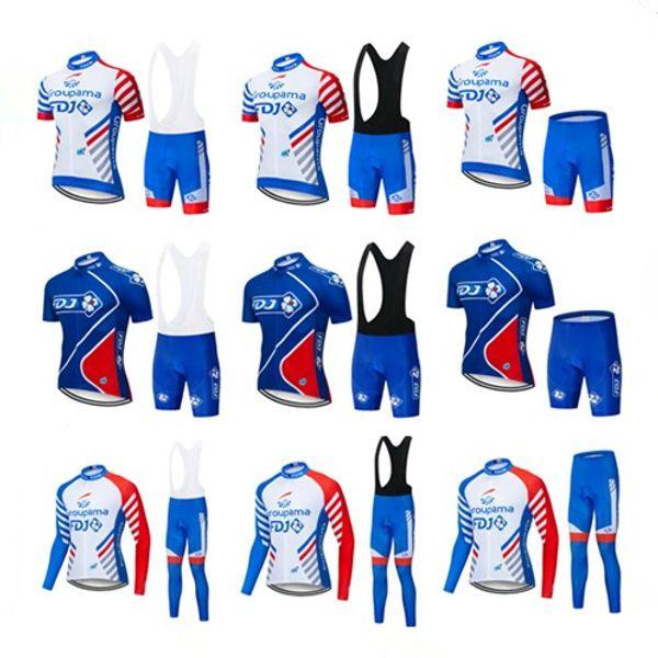Envío gratis 2019 nuevo equipo FDJ hombres ciclismo Jersey Kits verano invierno ropa de bicicleta de carretera conjunto bicicleta exterior ropa deportiva