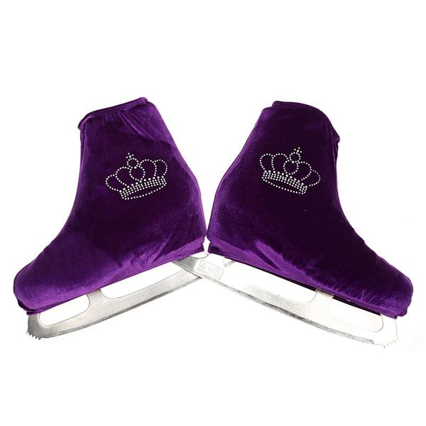 Nasinaya Figure Skating Shoes Cover Velvet for Kids Adult Protective Roller Skate Ice Skating Accessories shiny Rhinestones 12 #453057