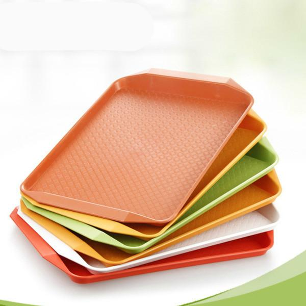 "Restaurant Hotel Plastic Serving Tray - Kitchen Refreshments Food Drink Cafe Standard Cafeteria/Fast Food Tray 12"" X 16"""