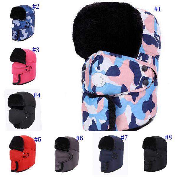 Зимняя ветрозащитная теплая шапка Trapper Ushanka Hat Beanie Теплые шапки для лыжного спорта на открытом воздухе Спортивная маска MMA2426