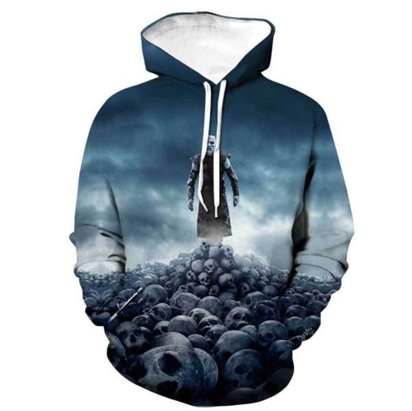 GOT 3D Digital Print Long Sleeve Mens Hoodies Designer Game Film Fashion Mens Hooded Sweatshirts Homme Clothing