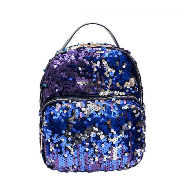 good quality Women Bling Sequins Backpack Cute Small Double Shoulder Bag Women Mini Backpacks Ladies Girls Princess Travel Bag Mochila