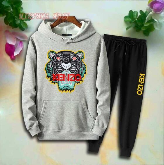 Wholesale - KZ Childrens Sport Sets Kids Sets 2-8T Kids Hoodies Pants 2Pcs/sets Boys And Girls 94% Cotton Tiger Printing Style Spring suits