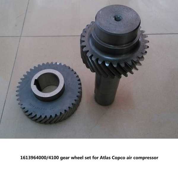 Free shipping Genuine gear wheel set driven gear shaft 1613964000/4100 for Atlas Copco GA37-75 screw air compressor parts