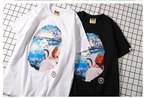 New Lover's Cartoon Print Camo Short Sleeve T-Shirts Men Women Round Neck Casual Quick Dry T-Shirts