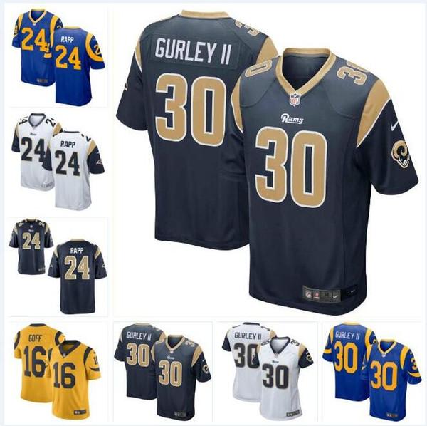 the latest 0a16c d6b6f 2019 #24 Taylor Rapp Rams Jersey Todd Gurley II Bobby Evans Greg Gaines  David Edwards Nick Scott Custom American Football Jerseys New Womens Men  From ...
