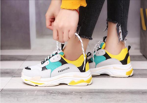 Primavera e autunno donne versione coreana di Harajuku selvaggio studente sportivo vecchie scarpe da corsa