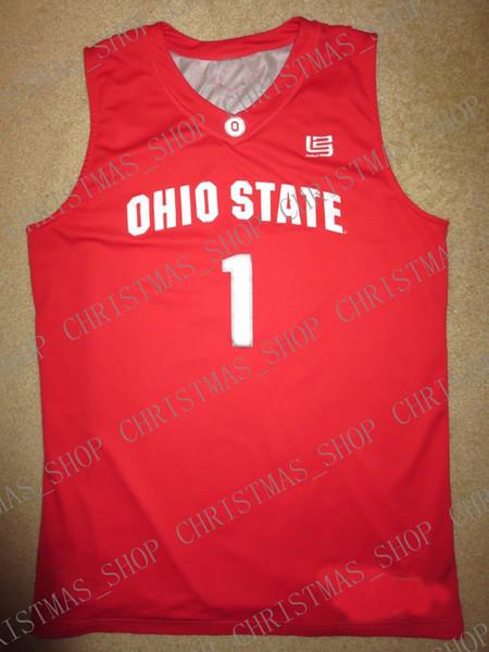 Günstige benutzerdefinierte Ohio State Buckeyes # 1 Basketballmannschaft Lebron James Jersey Genäht Passen Sie eine beliebige Anzahl Name MEN WOMEN YOUTH XS-5XL