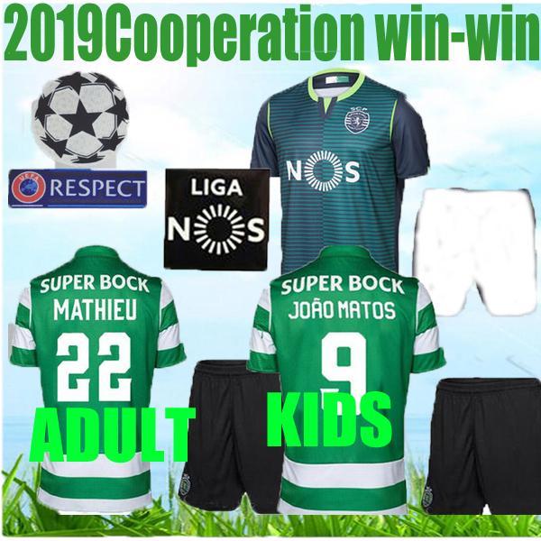 ADULT + KIDS 19 20 лет футболка Rio 2019 прочь, зеленая футбольная форма COATES ACUNA RAPHINHA Lisbon DOST PHELLYPE футбольная форма