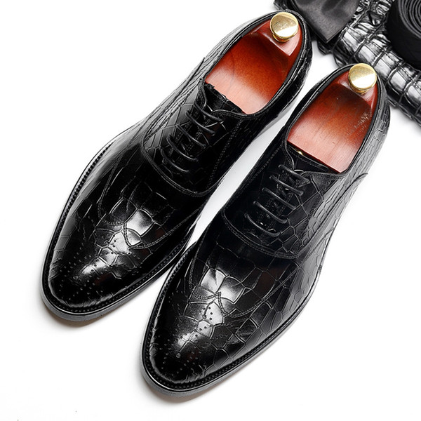 Men shoes High quality genuine cow leather Italian brand designer formal comfortable casual shoes