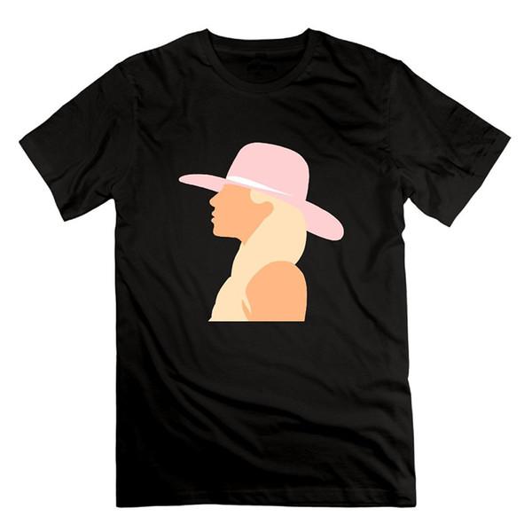 Drôle cool mode imprimé hommes à manches courtes Lady Gaga Joanne Album Affiche Hommes Mode Swag Hommes T-shirts