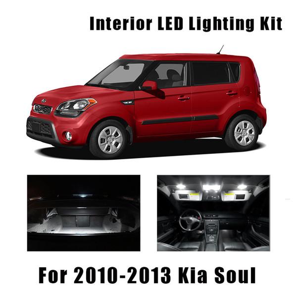 8 PCS LED Lights For 2014 2015 2016 2017 Kia Cadenza Kit Interior Package WHITE
