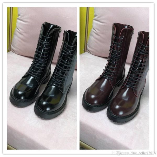 New autumn and winter styles Imported top-class genuine leather Italy leather outsole Women's fashion Middle boots