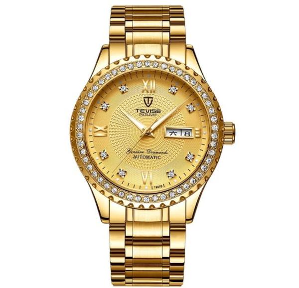 TEVISE T807B Men Brand Wrist Watch Semi-automatic Mechanical Fashion Luxury Waterproof Watch Luminous Business Casual Watch