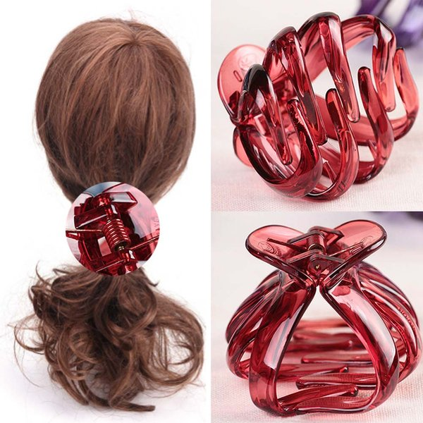 Korean Style Women Lady Child Hair Claw Acrylic Hair Clips Barrette Crab Clamp Pins Ornaments Accessories