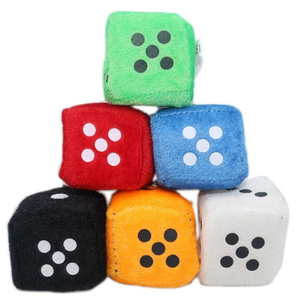 luckything Car Ornaments Dice Hanging Plush Dice Ornaments Keychains Ornaments With Suction Cup Mirror Rearview Hanging Ornament Decoration