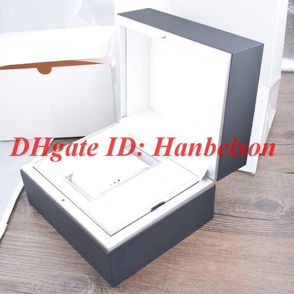 Scatola dell'orologio 2019 In bianco e nero Interni in pelle Manuale di istruzioni Garanzia Carta regalo Papers File I Offerta speciale