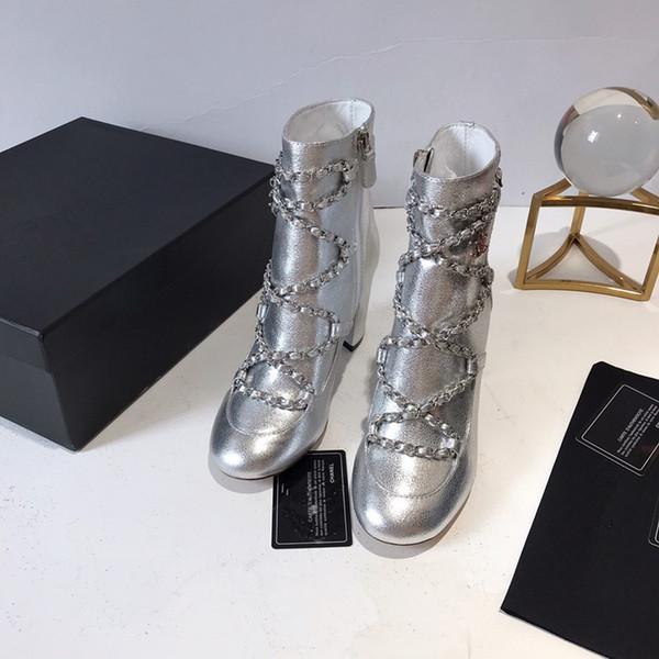 Laureate Desert Boots Womens progettista di marca Boots modo delle signore causale Martin Stivali in pelle tacco basso alla caviglia piattaforma rotonda cx2019090702 Toe
